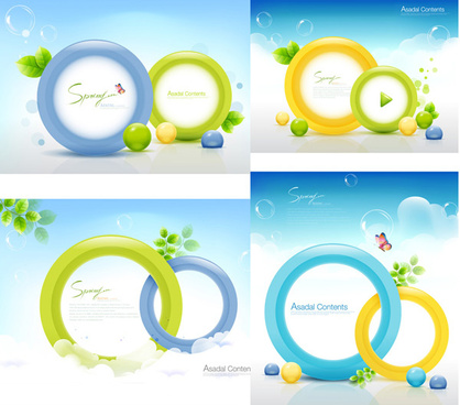 green decorative circular vector