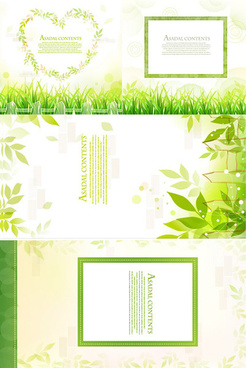 green decorative frame vector