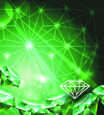 green diamond backgrounds vector