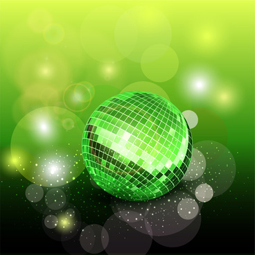 green disco ball background