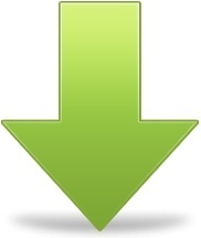 Green down arrow