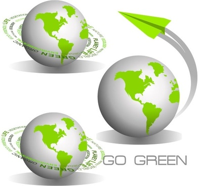 green earth icon vector