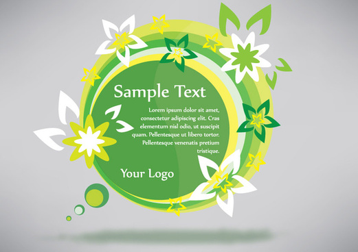 green eco banner sticker