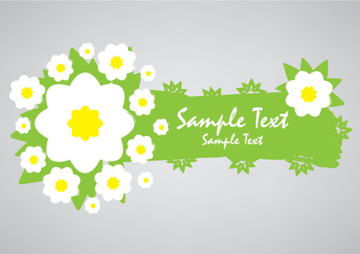 green eco banner with flowers