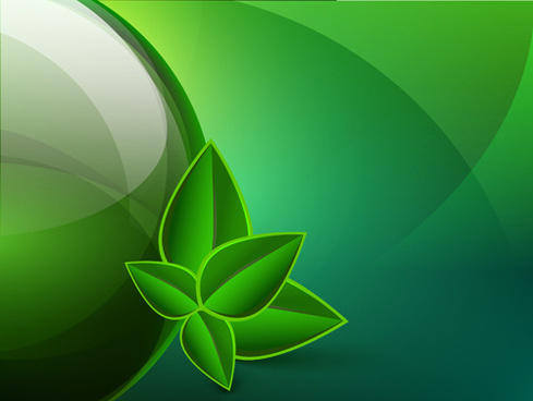 green eco elements background vector