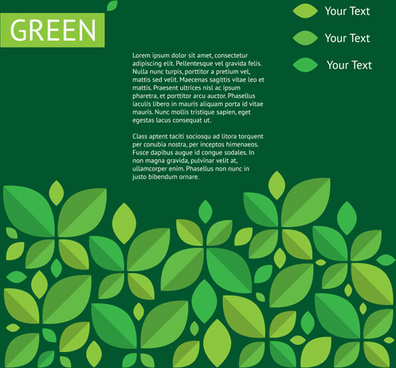 green ecology template background vectors