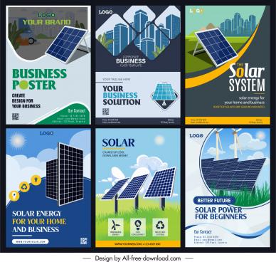 green energy advertising banners environmental elements sketch