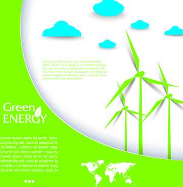 green energy business template vector