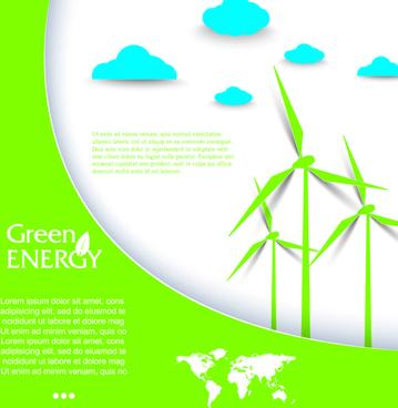 green energy business template vector