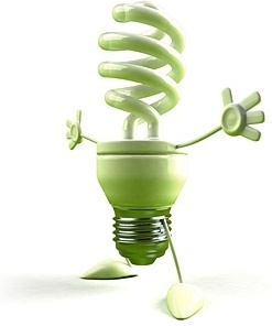 green energysaving bulbs boy picture
