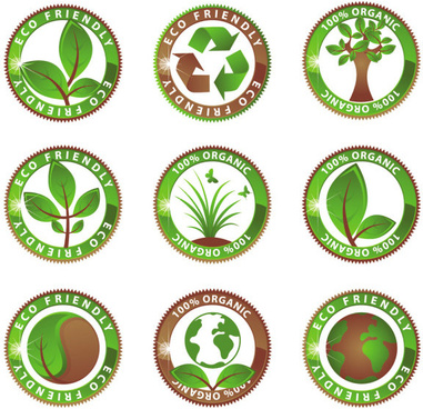 green environmental protection vector icon