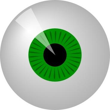 Green Eye clip art
