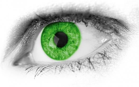 green eye detail