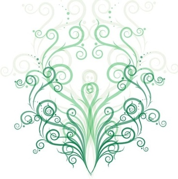 Green Fashion Floral Vector