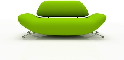green fashion sofa picture