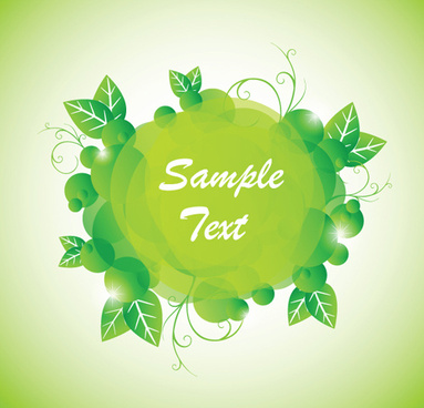 green floral frame vector set