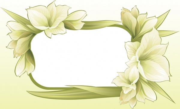 flower template elegant bright blooming decor