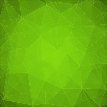 green geometric shapes background vector