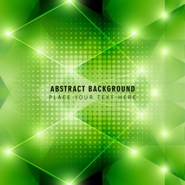 green geometry modern abstract background