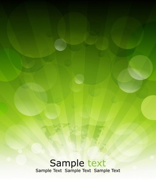 decorative background modern shiny bokeh green decor