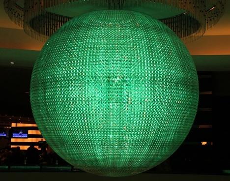 green glass light