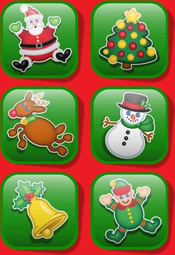 green glass texture christmas icon vector