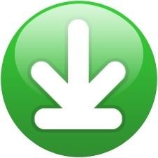 Green globe down arrow