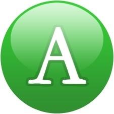 Green globe font
