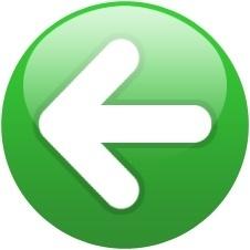 Green globe left arrow