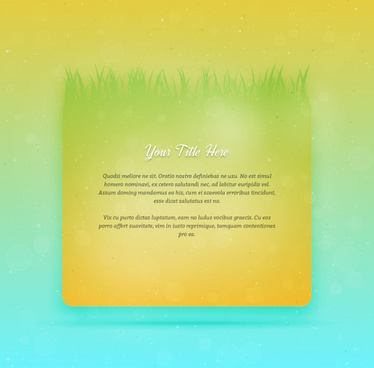green grass background concept