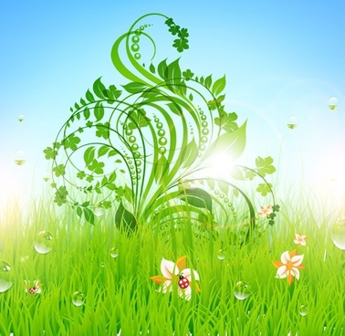 purity nature background modern colorful flower leaves decor