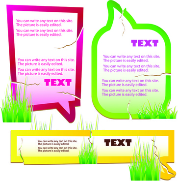 green grass with cloud for text vector