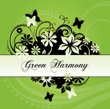 green harmony vector graphic