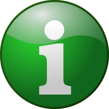 Green Info clip art