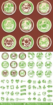 green label icon vector