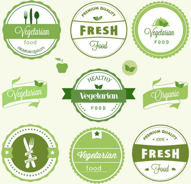 green labels design vector