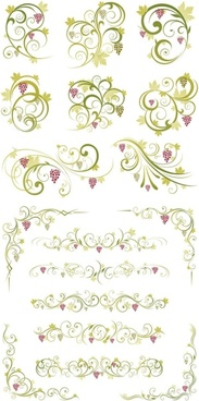 green lace pattern vector