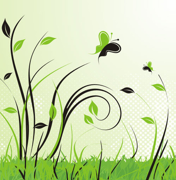 green landscape vector graphic