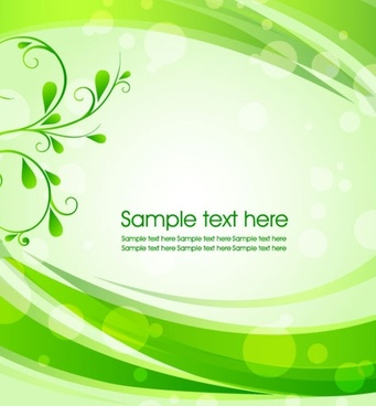green leaf background 01 vector