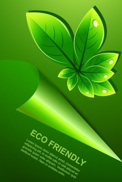 green leaf background 02 vector