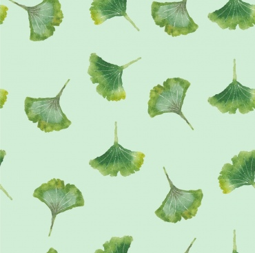 green leaf background repeating icons decoration