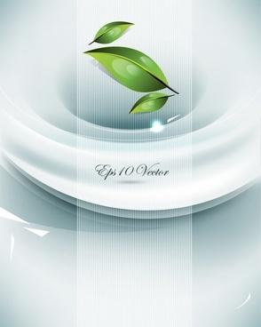green leaf background vector dynamic brilliant