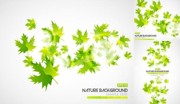 green leaf background vector illustration