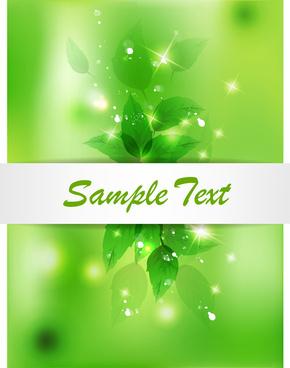 green leaf eco background