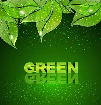 Green leaf vector background