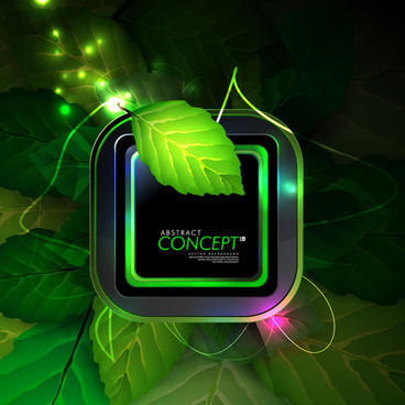 green leaves concept background elements vector
