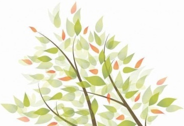 green leaves graphic art background shiny vector