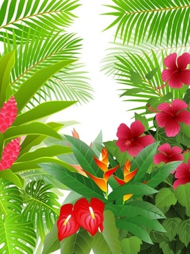 green leaves theme background 02 vector