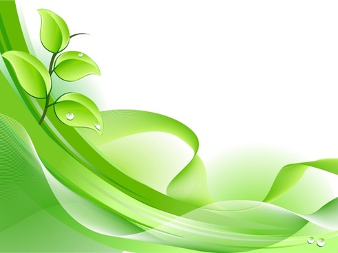 nature background wet green leaf dynamic curves ornament