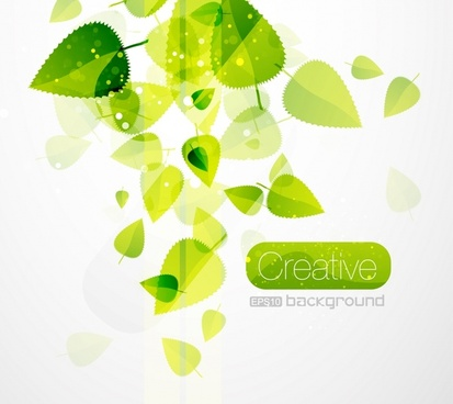 nature background green leaves decor modern transparent design